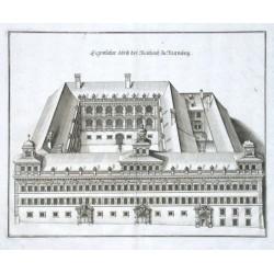 Eigentlicher Abriss der Rathaus zu Nurmberg