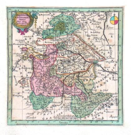Teutschlandes Bayerischer Creiss - Stará mapa