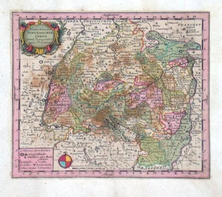 Teutzchlandes Schwaebischer Creiss samt dazu gehörigen Provintzen - Alte Landkarte