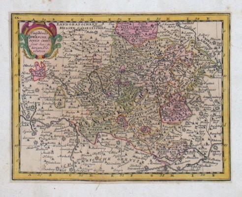 Teutschlandes Fraenckischer Creis - Alte Landkarte