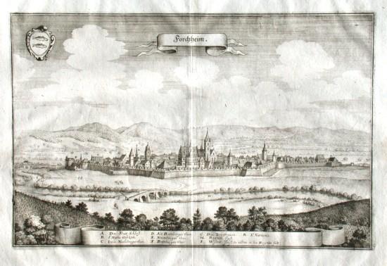 Forchheim - Alte Landkarte