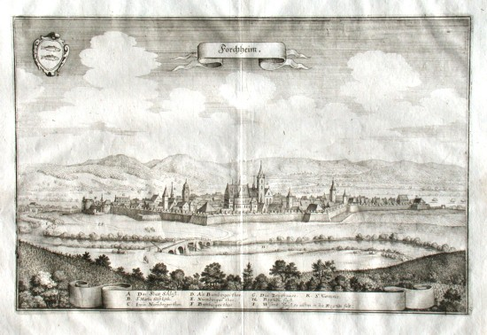 Forchheim - Stará mapa