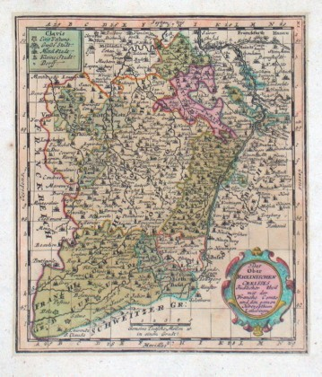 Des Ober Rheinischen Creisses Südlicher theil mit der Franche Comte und den ganzen Herzogthum Lotharingen