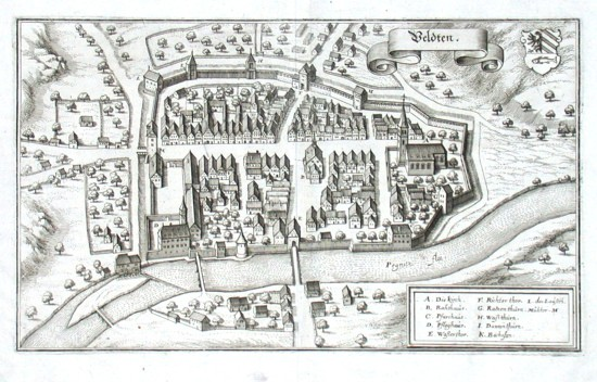 Veldten - Alte Landkarte