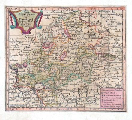 Des Ober - Rheinischen Creißes in Teutschland Nordlicher Theil - Antique map