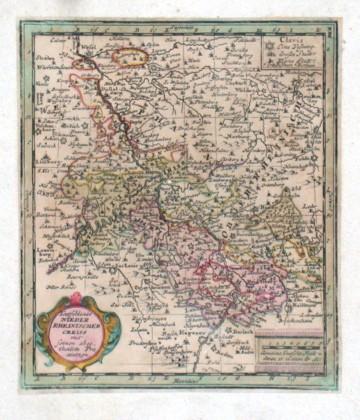 Teutschlands Nieder Rheinischer Creiss - Stará mapa