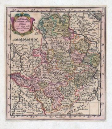 Teutschlandes Westphalischer Creiss - Antique map