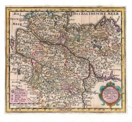 Teutschlandes Niedersaechssischer Creis samt dazu gehörigen Provintzen - Alte Landkarte