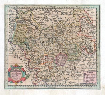 Das Herzogthum Braunschweig mit seinen abgetheilten Fürstenthümern den Stiffte Hildesheim - Alte Landkarte