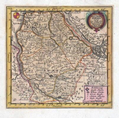 Das Herzogthum Bremen - Stará mapa