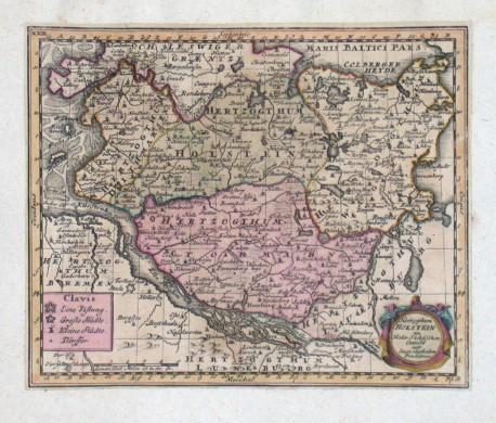 Herzogthum Holstein - Stará mapa