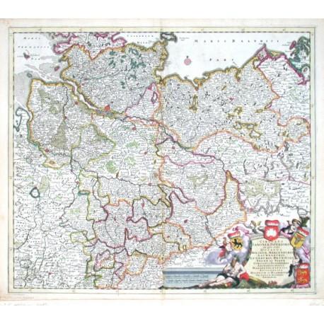 Circulus Saxoniae Inferioris, in quo sunt Ducatus Holsatiae. Meklenburgi, Lauwenburgi