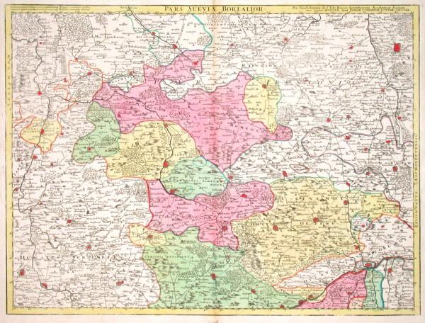 Pars Sueviae Borealior - Antique map