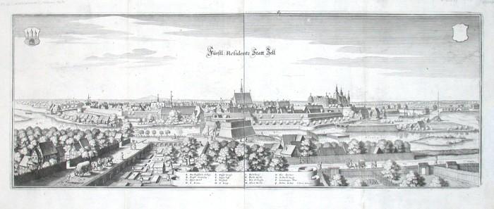 Fürstl: Residentz Statt Zell - Alte Landkarte