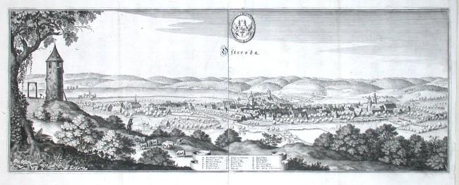 Osteroda - Alte Landkarte