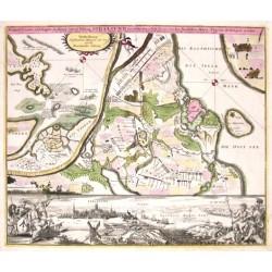 Prospect, Grundris und Gegent der Königl. Schwed. Vestung Stralsund wie solche den 15 July 1715 von den Nordischen Hohen