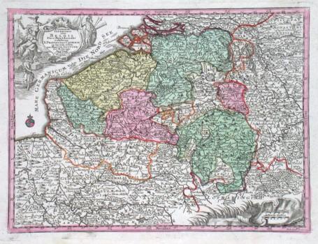 Germaniae Inferioris sive Belgii Pars Meridionalis exhibens X. Provincias Catholic - Stará mapa