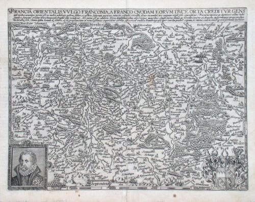 Francia orientalis, vulgo Franconia - Antique map