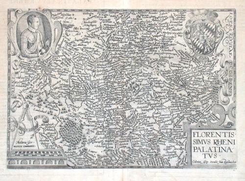 Florentissimus Rheni Palatinatus - Alte Landkarte