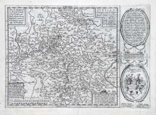 Sveviae - Alte Landkarte