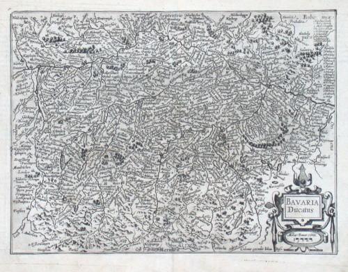 Bavaria Ducatus - Alte Landkarte