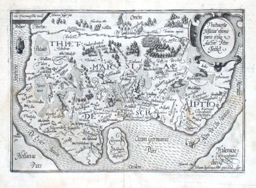 Thietmarsiae Holsatiae regionis partis typus - Alte Landkarte