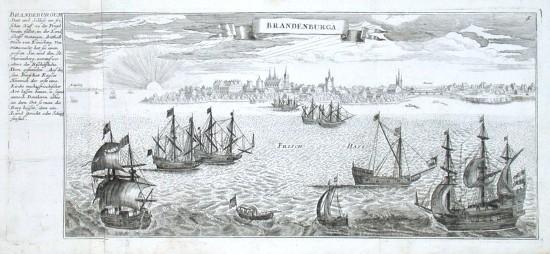 Brandenburga - Stará mapa