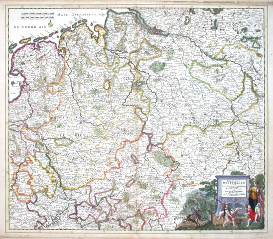 Circulus Westphaliae cum - Alte Landkarte