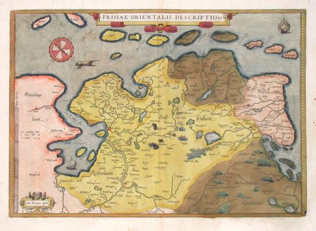Frisiae Orientalis descriptio - Stará mapa