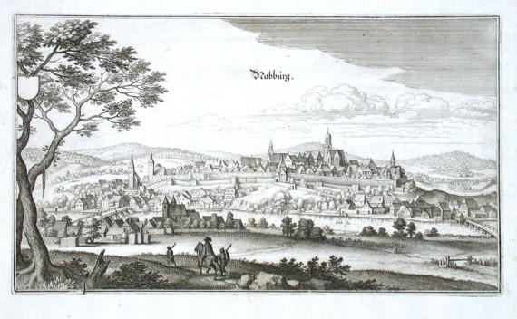 Nabburg - Alte Landkarte