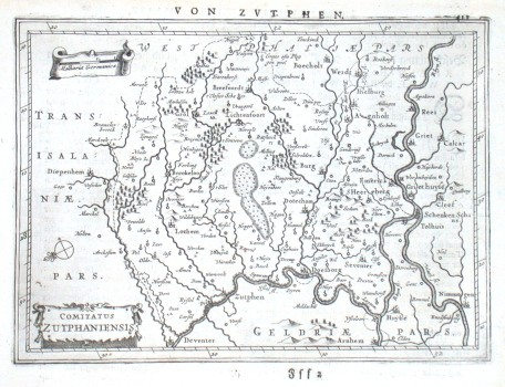Comitatus Zutphaniensis - Alte Landkarte
