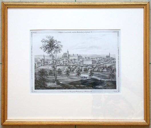 Wzhled howiřskeho mněsta Kutnehory w Cžechach - Stará mapa