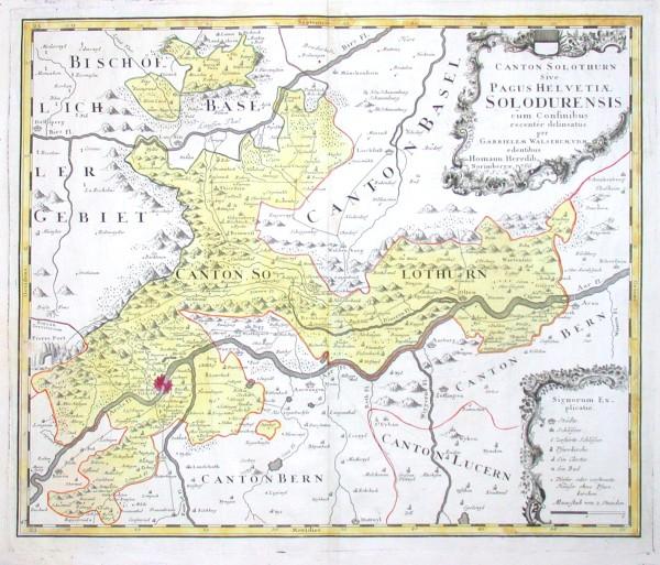 Canton Solothurn - Alte Landkarte