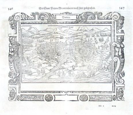 Der Statt Parma Abcontrafactur nach ihrer gelegenheit - Alte Landkarte