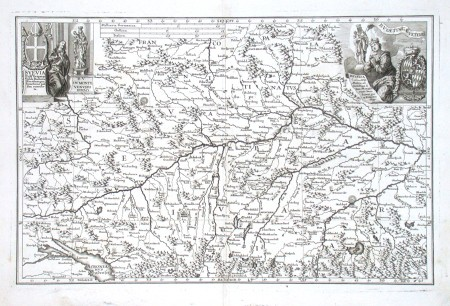 Svevia - Bavaria - Alte Landkarte