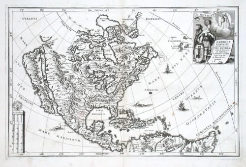 America Borealis - Alte Landkarte
