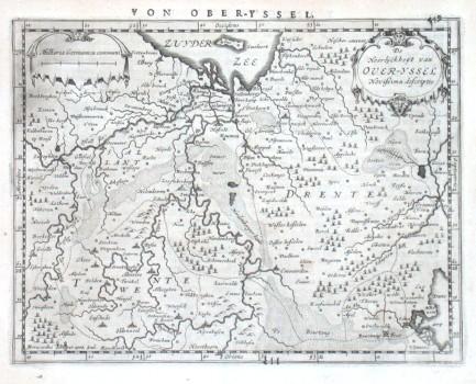 De Heerlijckheijt van Over-Yssel Novissima descriptio - Stará mapa