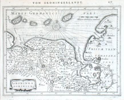 Groninga Dominium - Stará mapa