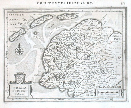 Frisia Occidentalis - Alte Landkarte