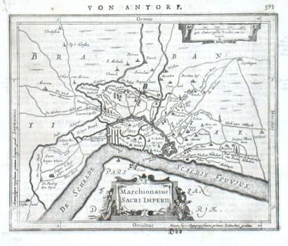 Antwerpen - Marchionatus Sacri Imperii - Alte Landkarte