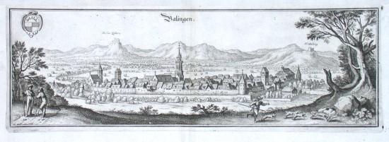 Balingen - Alte Landkarte