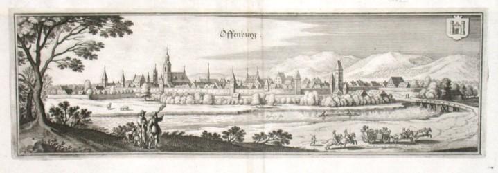 Offenburg - Alte Landkarte