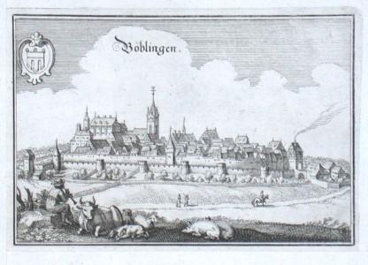Böblingen - Alte Landkarte
