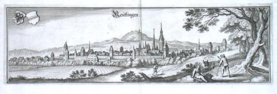 Reütlingen - Alte Landkarte