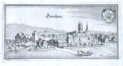 Dornhan - Alte Landkarte
