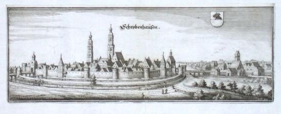 Schrobenhausen - Alte Landkarte