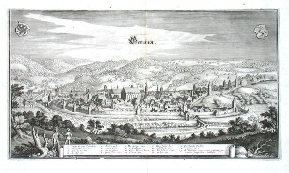 Gemündt - Stará mapa