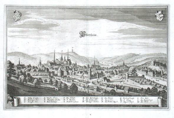 Pfortzheim - Stará mapa