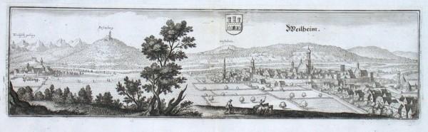 Weilheim - Alte Landkarte