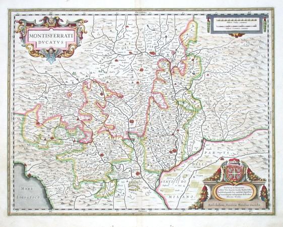 Montisferrati Ducatus - Alte Landkarte